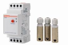 Elektronické automatické hlídání hladiny v rozvaděči + 3x sonda na DIN lištu