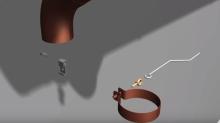 Montáž  uchytne spony svodu do okapového systému cena za práce bez materiálu za kus
