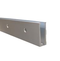 Hliníkový kotvící profil s bočním kotvením pro sklo 12-22 mm, 5000 mm