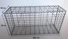 Gabionový koš 100x50x30, velikost oka 5x10cm, Ø drátu 4mm
