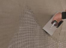 Montáž armovací tkaniny do lepidla ( perlinka), cena práce bez materiálu za m2
