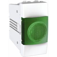 Indikační kontrolka Unica, 1 modul, zelená/bílá