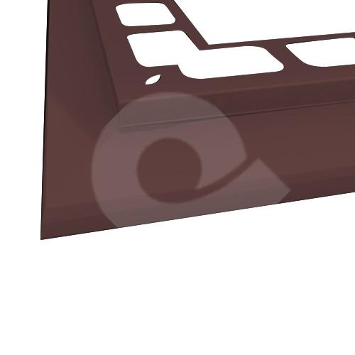 Balkonový profil rohový RAL 8017 hnědý 2m