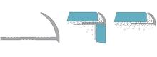 Obloučková ukončovací lišta otevřená Cezar pvc stříbrná matná 7mm 2,5m