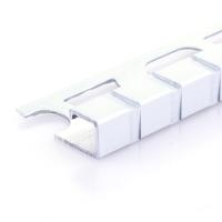 Čtvercový ukončovací profil Profilpas elox platina vzor čtverec kartáčovaný 12,5mm 2,7m