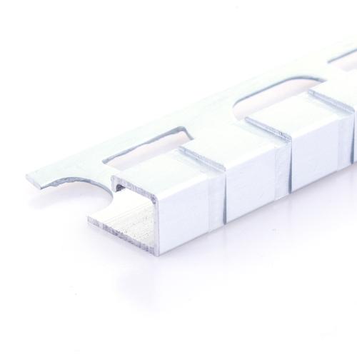 Čtvercový ukončovací profil Profilpas elox platina vzor čtverec kartáčovaný 11mm 2,7m