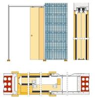 Pouzdro pro posuvné dveře do zdiva 205mm Eclisse Teleskop
