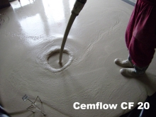 Litý cementový samonivelační potěr cemflow CF 20