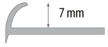 Obloučková ukončovací lišta otevřená Cezar pvc bronzová 7mm 2,5m