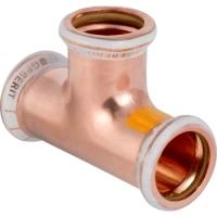 Měděná plynová tvarovka T-kus jednoznačný Geberit Mapress