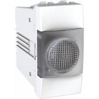 Indikační kontrolka Unica, 1 modul bílá