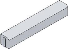 Osázení silničního najezdoveho obrubníku (1000x250x150) na beton  cena práce bez materiálu  za m/b