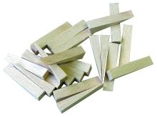 Klínky dřevěné špičaté buk 100x24x0-16mm 14ks