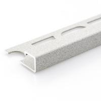 Čtvercový ukončovací profil Profilpas hliník lakovaný matný kámen 12,5mm 2,7m