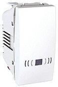 Ovládač tlačítkový Unica se symbolem zvonku, 1 modul, bílý