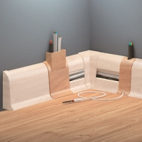 Cezar PREMIUM spojka na kabely, PVC, 59mm, dub carballo, dekor 205