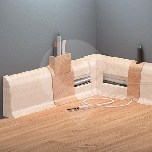Cezar PREMIUM spojka na kabely, PVC, 59mm, dub klasický, dekor 135