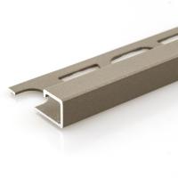 Čtvercový ukončovací profil Profilpas hliník lakovaný matný bronz 8mm 2,7m