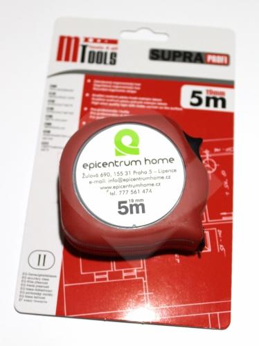 Svinovací metr Supra 5m/19mm, logo EH