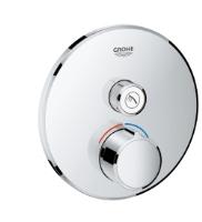 Podomítková kulatá baterie bez termostatu s 1 výstupem chrom Grohe SmartControl