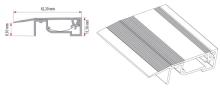 Přechodový profil Cezar Click na kabely hliník 8x42x11mm 1m stříbrný