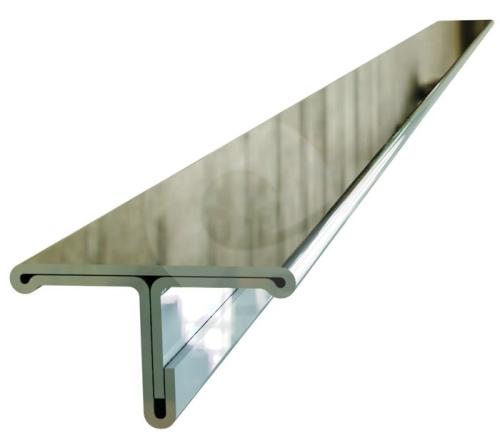 T profil Ligma nerez kartáčovaná 14mm 2,5m