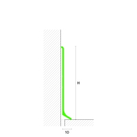 Podlahová soklová lišta AL profil 40 mm stříbrná 2 m