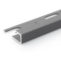 Čtvercový ukončovací profil Profilpas hliník lakovaný matný tmavě šedý 12,5mm 2,7m
