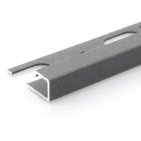 Čtvercový ukončovací profil Profilpas hliník lakovaný matný tmavě šedý 8mm 2,7m