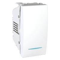 Přepínač střídavý s orientační kontrolkou Unica, 1 modul, bílý