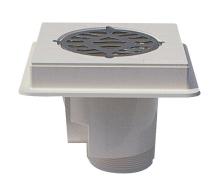 Podlahová výpusť ABS s nerezovou mřížkou AISI 316 pro beton