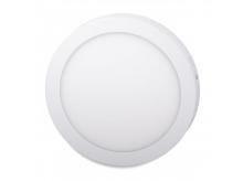 LED panel svítidlo Foyu 18 W, 220mm, bílá, 6500K, bílý rámeček kulatý, přisazená