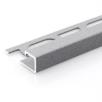 Čtvercový ukončovací profil Profilpas hliník lakovaný matná šedá 12,5mm 2,7m