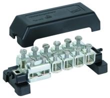 Ekvipotenciální přípojnice s násuvnými svorkami s odolností proti UV záření Dehn