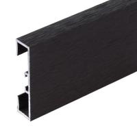 Podlahová soklová lišta Profilpas hliník kartáčovaný tmavě hnědý 40 mm 2 m
