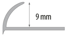 Obloučková ukončovací lišta otevřená Cezar pvc bílá 9mm 2,5m