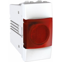 Indikační kontrolka Unica, 1 modul, červená/bílá