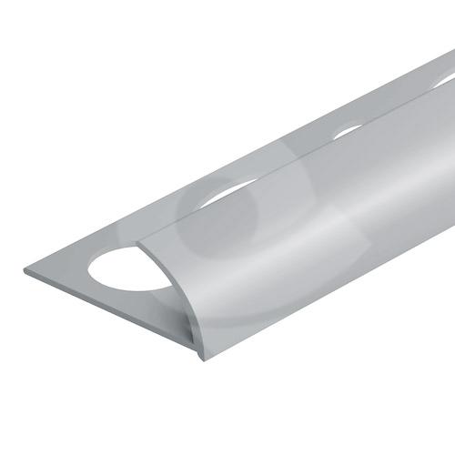 Obloučková ukončovací lišta otevřená Cezar pvc světle šedá 9mm 2,5m