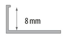Ukončovací L profil Cezar plast světle šedá 8mm 2,5m