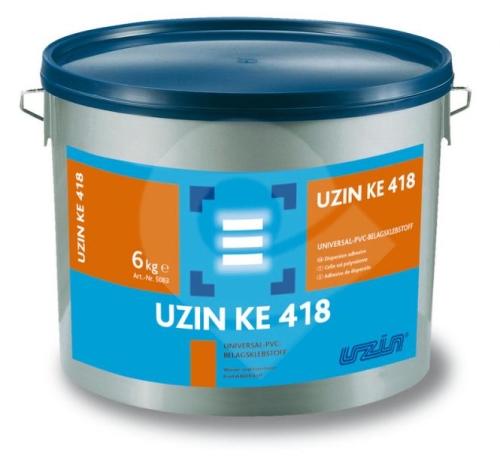 Disperzní lepidlo UZIN KE 418 pro lepení pvc, cv, textil. podlahovin 18kg