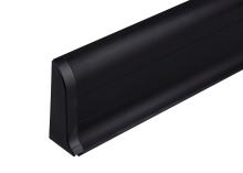 Cezar PREMIUM koncovka levá, PVC, 59mm, černá, dekor 090