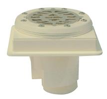 Podlahová výpusť ABS s nerezovou mřížkou AISI 316 pro fólie