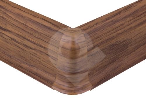 Cezar PREMIUM vnější roh, PVC, 59mm, merbau, dekor 190