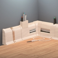 Cezar DUO spojka, PVC, 59mm, akácie, dekor 138 2ks/bal