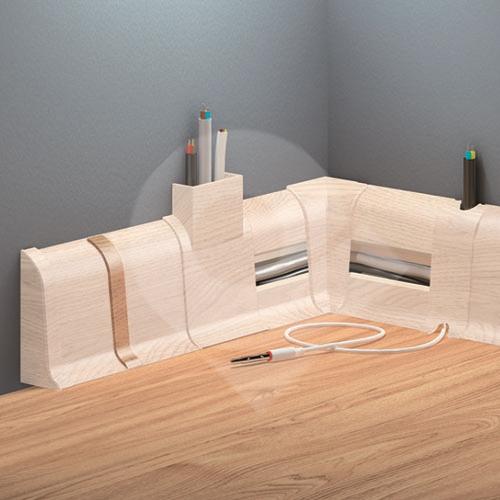 Cezar DUO spojka, PVC, 59mm, tasmánské dřevo, dekor 101 2ks/bal