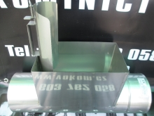 Díl s kontrolním dvojitým otvorem 150x250 pr. 450mm