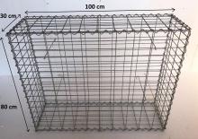 Gabionový koš 100x80x30, velikost oka 5x10cm, Ø drátu 4mm