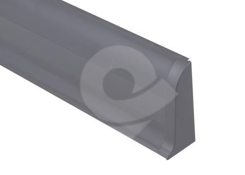 Cezar PREMIUM koncovka pravá, PVC, 59mm, šedá matná, dekor 088