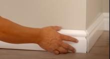 Montáž podlahové soklové lišty z polymerů, cena práce za bm bez materiálu
