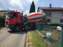 Doprava betonu autodomíchávačem cena 1 km
